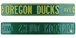 Oregon Ducks Avenue Officially Licensed Authentic Steel 36x6 Green & Yellow NCAA Street Sign-0