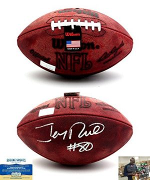 Jerry Rice Autographed/Signed San Francisco 49ers Wilson Throwback Authentic NFL Football-0
