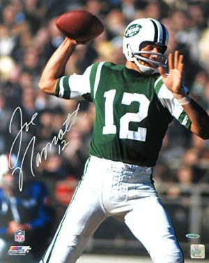 Joe Namath Autographed/Signed New York Jets Iconic Vintage 16x20 NFL Action Photo - Upper Deck-0