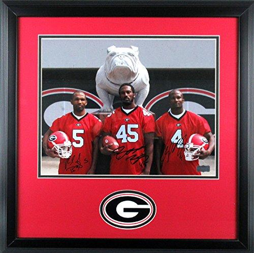 "Champ, Boss, & Ronald Bailey Autographed/Signed Framed Georgia Bulldogs 11x14 NCAA Photo ""Bulldog""-0"