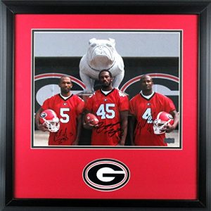 "Champ, Boss, & Ronald Bailey Autographed/Signed Framed Georgia Bulldogs 11x14 NCAA Photo ""Between the Hedges""-0"
