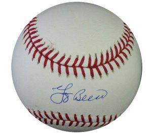 Yogi Berra Autographed/Signed Rawlings Official Major League Baseball-0