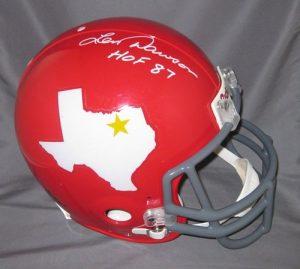 Len Dawson Signed Dallas Texans Proline Helmet w/HOF 87-0