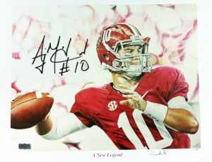 A.J. AJ McCarron Autographed/Signed Alabama Crimson Tide Signed 14X18 Artist Print A New Legend-0