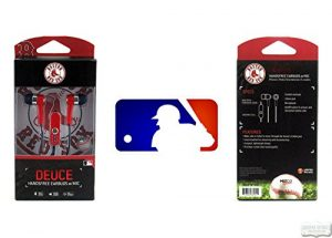 Boston Red Sox Navy & Red MLB Officially Licensed Deuce Ear Buds with Built-In Microphone & Hands-Free Functionality-0