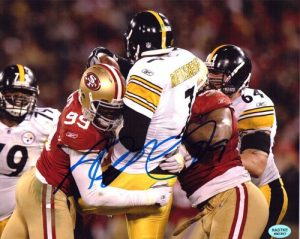 Aldon Smith Signed San Francisco 49ers 8x10 Photo Sacking Roethlisberger-0