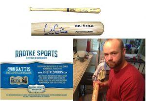 Evan Gattis Signed/Autographed Atlanta Braves Rawlings Big Stick BatBare Hands Bear Strength-0