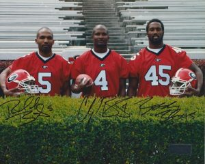 Champ, Boss, & Ronald Bailey Autographed/Signed Georgia Bulldogs 8x10 NCAA Ph...-0
