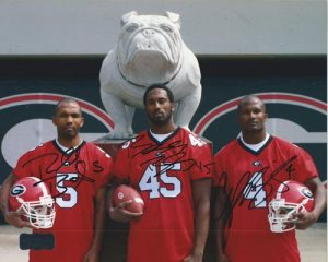 Champ, Boss, &amp Ronald Bailey Autographed/Signed Georgia Bulldogs 8x10 NCAA PhotoBulldog&quot-0
