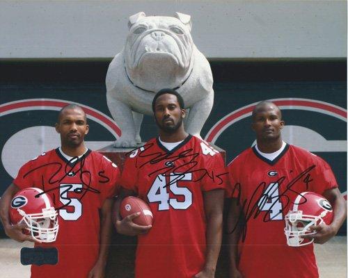 Champ, Boss, &amp Ronald Bailey Autographed/Signed Georgia Bulldogs 8x10 NCAA PhotoBulldog&quot-0