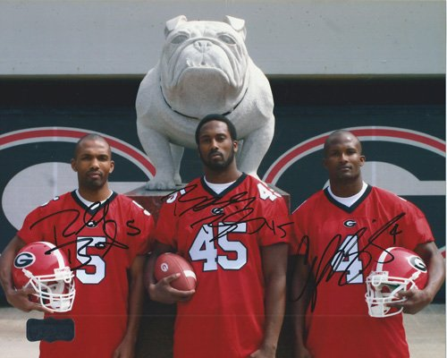 Champ, Boss, & Ronald Bailey Autographed/Signed Georgia Bulldogs 11x14 NCAA P...-0