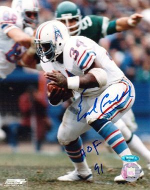Earl Campbell Autographed Houston Oilers 8x10 Photo-0