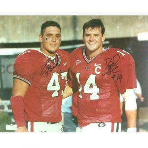 David Pollack & David Greene Autographed/Signed Classic Georgia Bulldogs 11x14 NCAA Photo-0