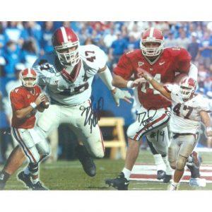 David Pollack & David Greene Autographed/Signed Classic Georgia Bulldogs 11x14 NCAA Collage Photo-0