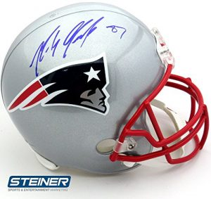 Rob Gronkowski Autographed/Signed New England Patriots Riddell Full Size NFL Helmet-0