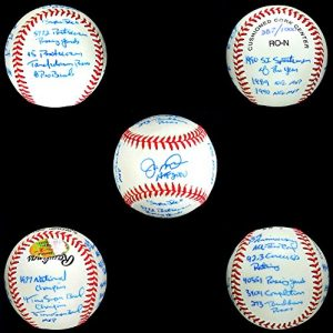 Joe Montana Autographed/Signed Authentic Rawlings MLB Baseball with 16 Career Stat Inscriptions - Limited Edition #387 of 1000-0