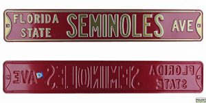 Florida State FSU Seminoles Avenue Officially Licensed Authentic Steel 36x6 Garnet & Gold NCAA Street Sign-0