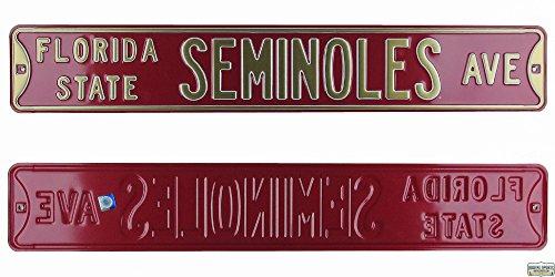 Florida State FSU Seminoles Avenue Officially Licensed Authentic Steel 36x6 Garnet & Gold NCAA Street Sign-0