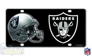 Oakland Raiders Officially Licensed NFL Metal License Plate-0