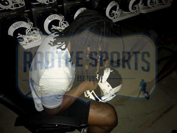 Todd Gurley Signed Los Angeles Rams Riddell Full Size Speed NFL Helmet-31124