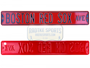 Boston Red Sox Avenue Officially Licensed Authentic Steel 36x6 Red & Blue MLB Street Sign-0