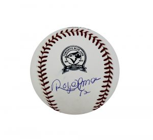 Roberto Alomar Signed Toronto Blue Jays Rawlings 40th Anniversary Official Major League Baseball-0