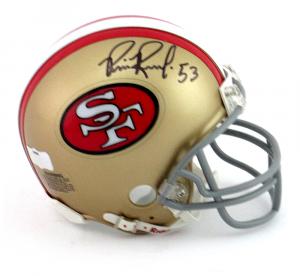 Bill Romanowski Signed San Francisco 49ers Riddell NFL Mini Helmet-0