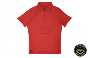 "Rory McIlroy Signed On Point Red Oakley Polo Shirt with ""2012 PGA Champion"" Inscription-0"