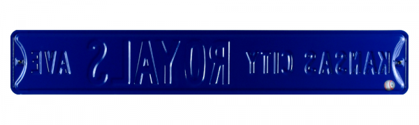 Kansas City Royals Avenue Officially Licensed Authentic Steel 36x6 Blue & White MLB Street Sign-9074