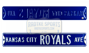 Kansas City Royals Avenue Officially Licensed Authentic Steel 36x6 Blue & White MLB Street Sign-0