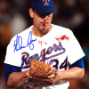 Nolan Ryan Autographed/Signed Texas Rangers Iconic 8x10 MLB Photo - Bloody Lip-0