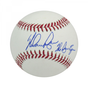 "Nolan Ryan Autographed/Signed Texas Rangers Rawlings Major League Baseball with ""Ryan Express"" Inscription-0"