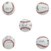 Nolan Ryan Autographed/Signed Texas Rangers Rawlings Major League Baseball with Career Stats Inscription-0
