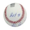 Nolan Ryan Autographed/Signed Texas Rangers Rawlings Major League Baseball with Career Stats Inscription-13571