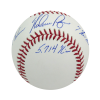 Nolan Ryan Autographed/Signed Texas Rangers Rawlings Major League Baseball with Career Stats Inscription-13569