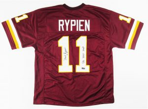 "Mark Rypien Signed Washington Redskins Custom Jersey With ""SB XXVI MVP"" Inscription-0"
