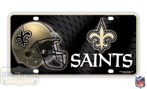 New Orleans Saints Officially Licensed NFL Metal License Plate-0
