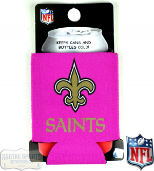 New Orleans Saints Officially Licensed 12oz Neoprene Can Huggie - Pink-0