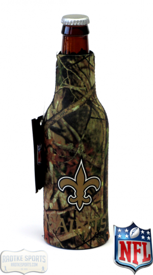 New Orleans Saints Officially Licensed 12oz Neoprene Camoflauge Bottle Koozie-0