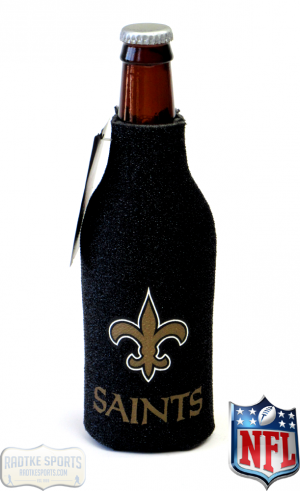 New Orleans Saints Officially Licensed 12oz Neoprene Glitter Bottle Koozie-0