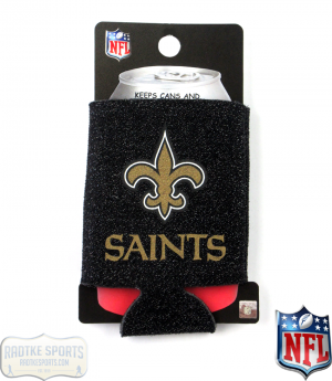 New Orleans Saints Officially Licensed 12oz Neoprene Glitter Can Koozie-0
