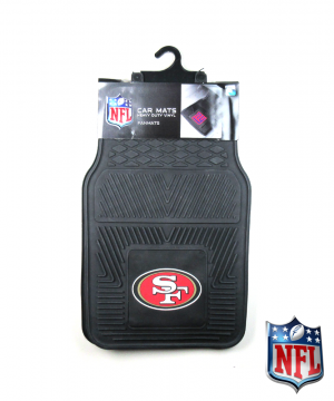 San Francisco 49ers Officially Licensed 17x27 Heavy Duty Vinyl NFL Car Mats Set-0