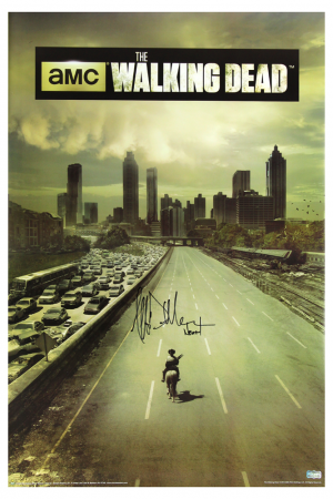 "Jeffrey Dean Morgan Signed The Walking Dead Full Size Season One Poster with ""Negan"" Inscription-0"