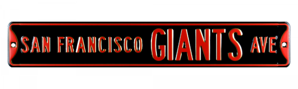San Francisco Giants Avenue Officially Licensed Authentic Steel 36x6 Orange & Black MLB Street Sign-9073