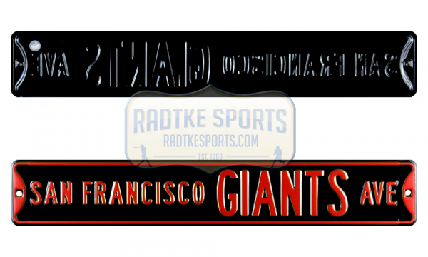 San Francisco Giants Avenue Officially Licensed Authentic Steel 36x6 Orange & Black MLB Street Sign-0
