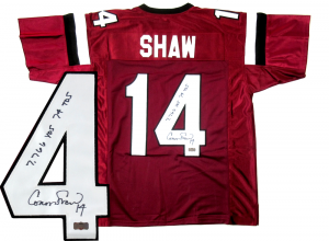 Connor Shaw Autographed/Signed South Carolina Gamecocks Custom Jersey with Career Stats Inscription-0