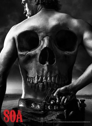 Sons Of Anarchy Skull on Back of Jax 24x36 Poster -0