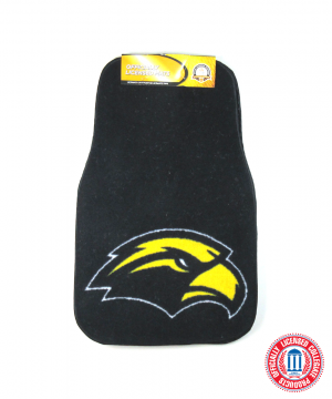 Southern Miss Golden Eagles Officially Licensed 17x27 Carpet NCAA Car Mats Set-0