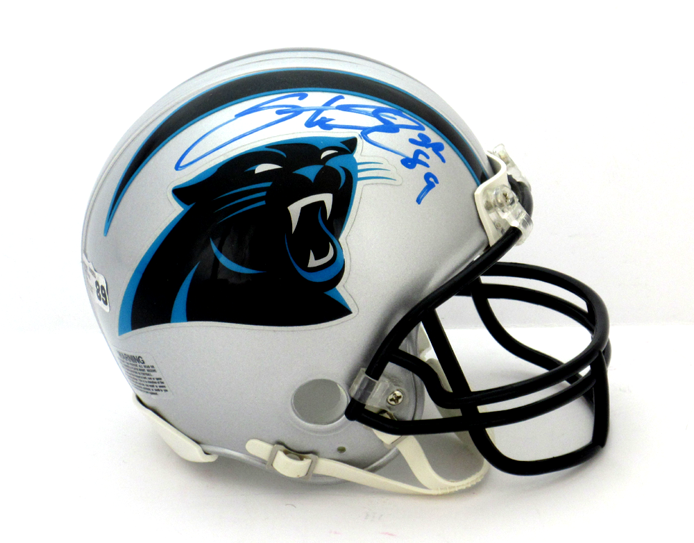 official photos 50a6b adcb5 Steve Smith Sr Signed Carolina Panthers Riddell NFL Mini Helmet