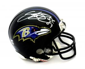 Steve Smith Sr Signed Baltimore Ravens Riddell NFL Mini Helmet-0